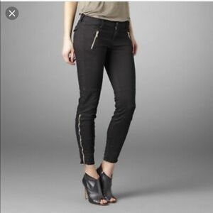 J Brand the Agnes in black with side leg zipper